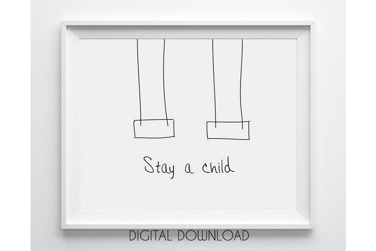 Nursery Quote Printable, Kids Room Wall Art Large example image 1