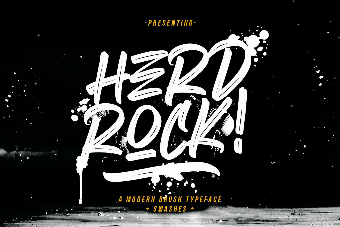 Herdrock Brush Typeface example image 1
