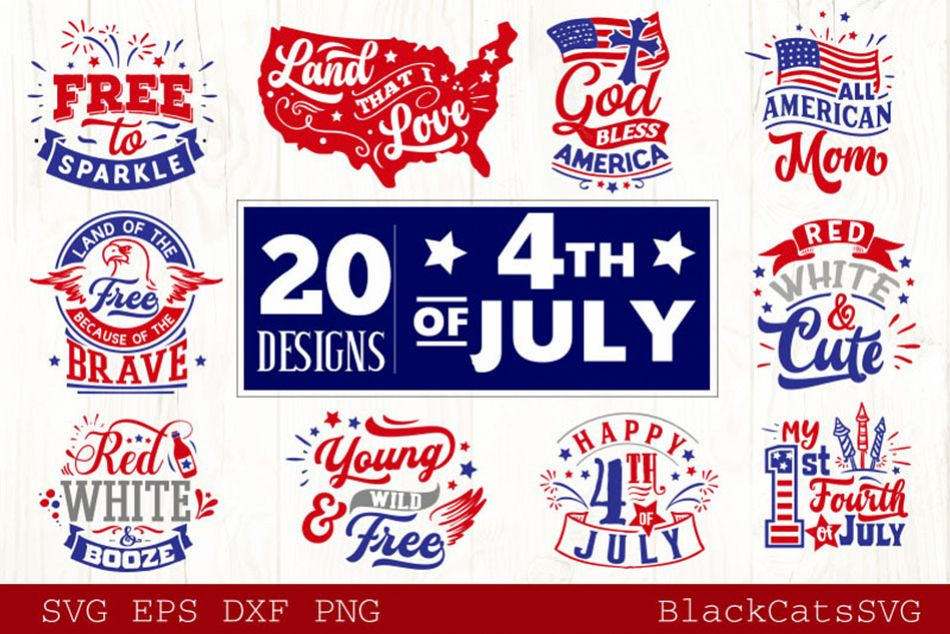 Fourth of July SVG Bundle 20 Designs example image 1