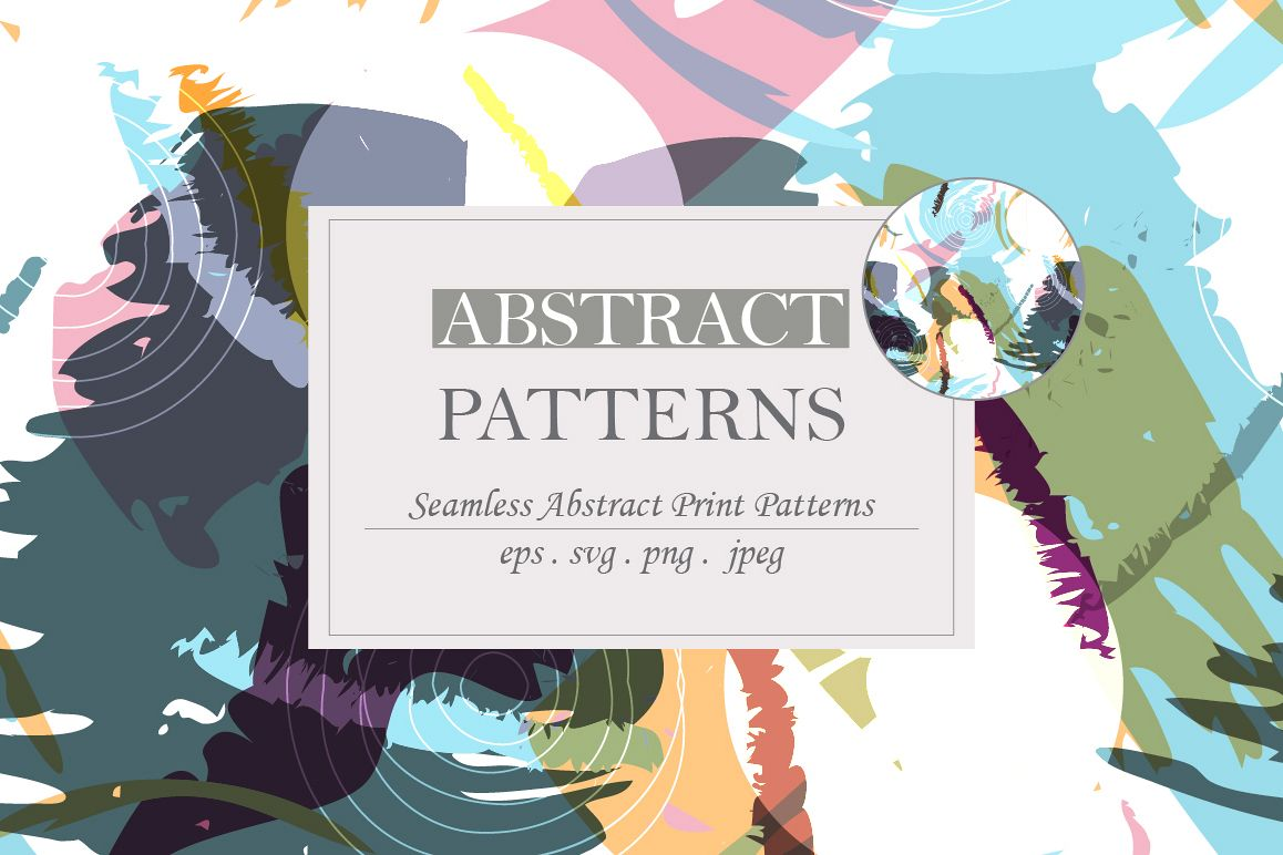 Abstract brush strokes patterns example image 1
