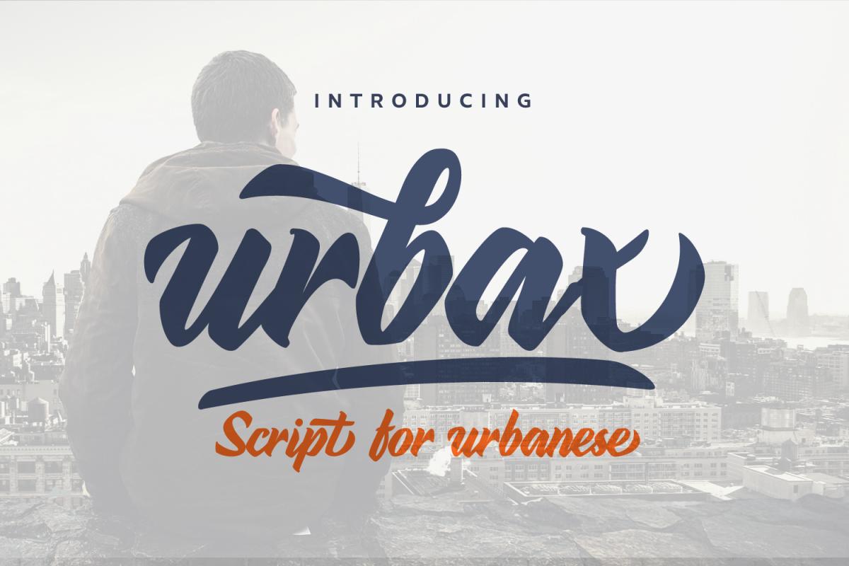 Urbax Script Font example image 1