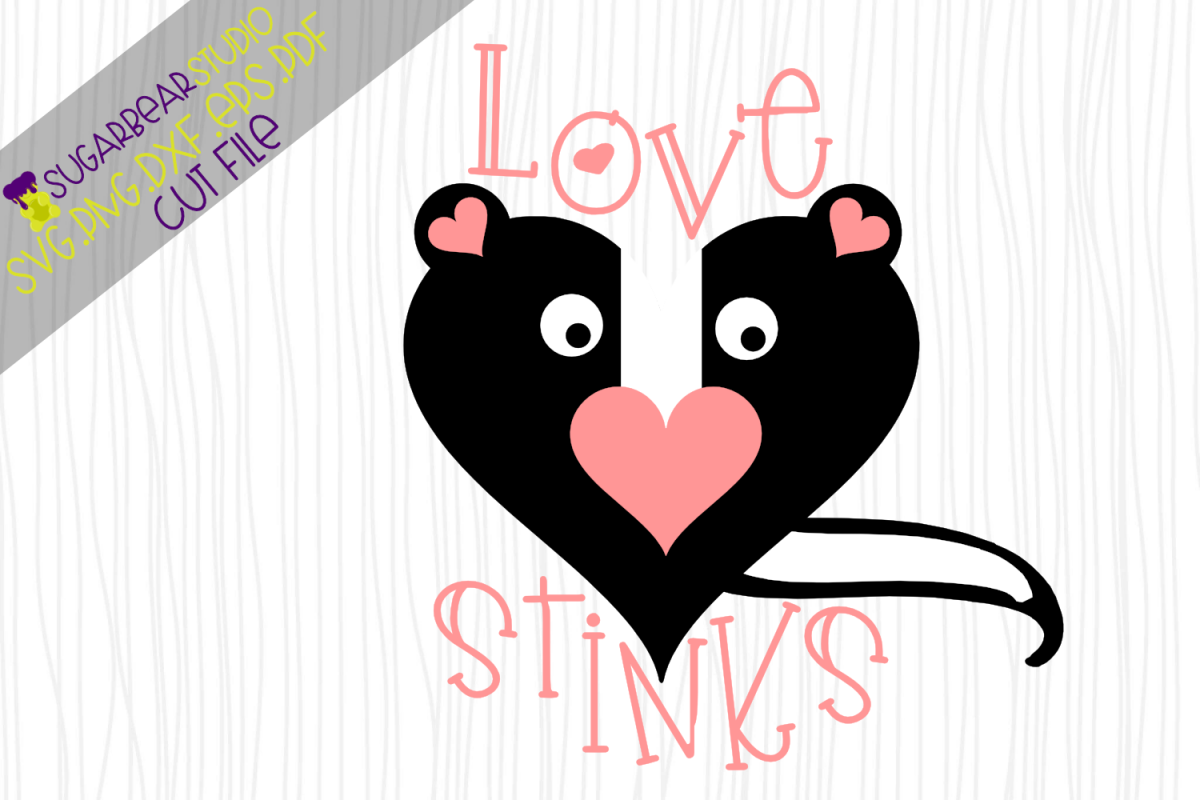 Love Stinks Skunk SVG example image 1