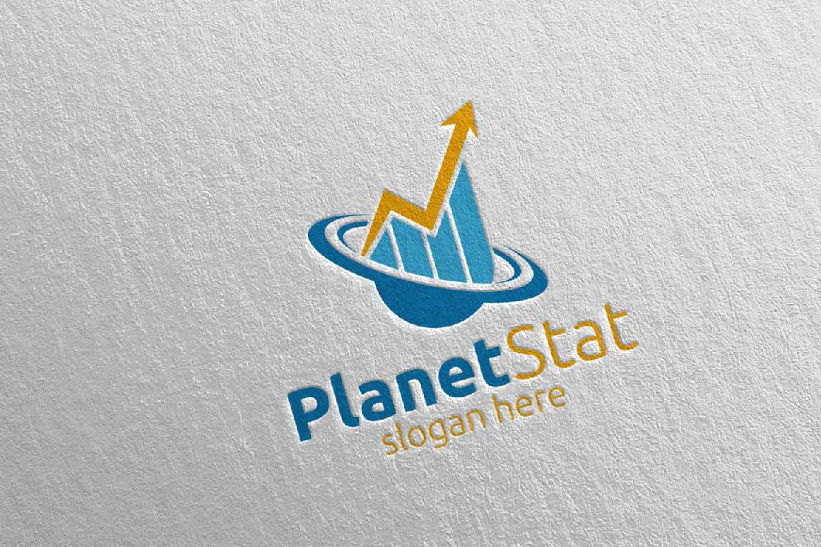 Planet Marketing Financial Advisor Logo Design 25 example image 1