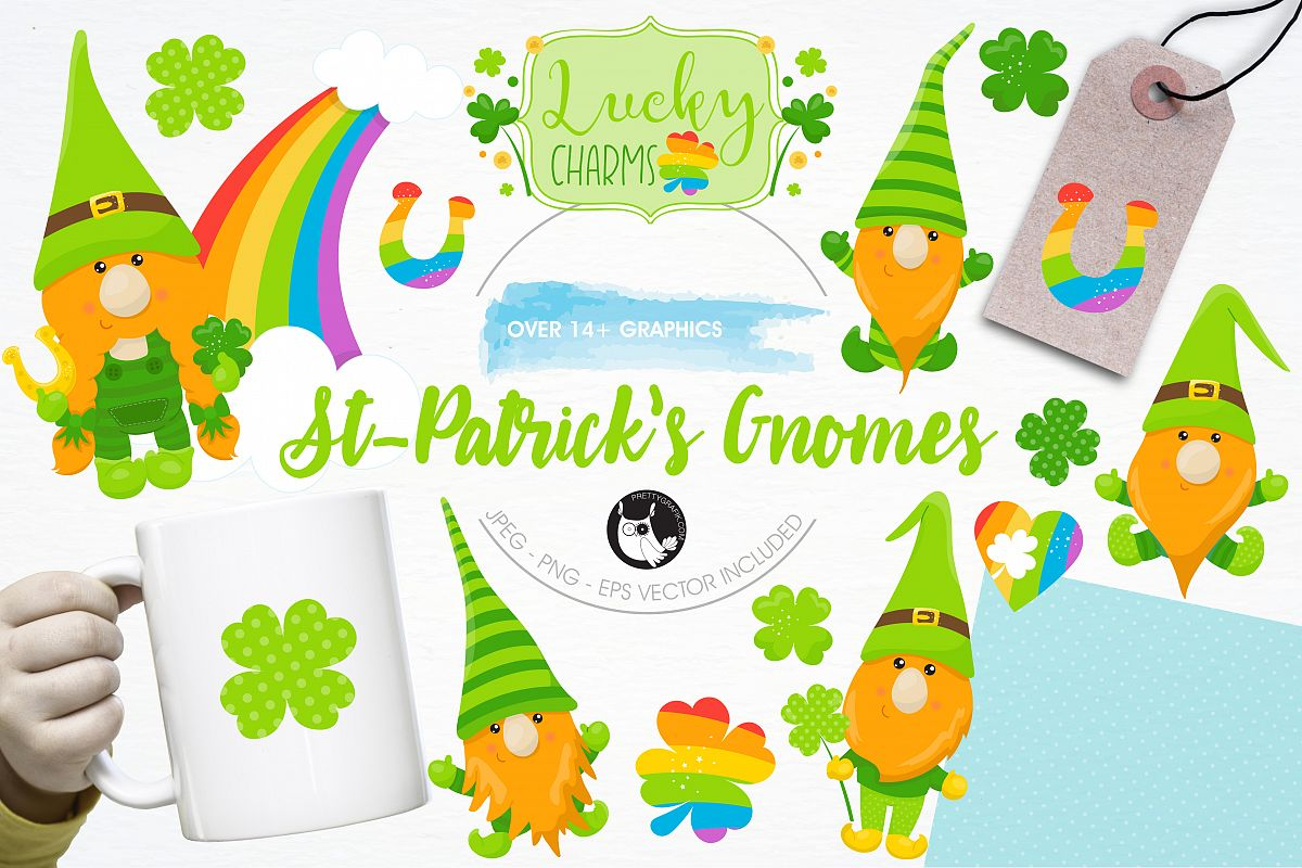 St-Patrick Gnomes graphics and illustrations example image 1