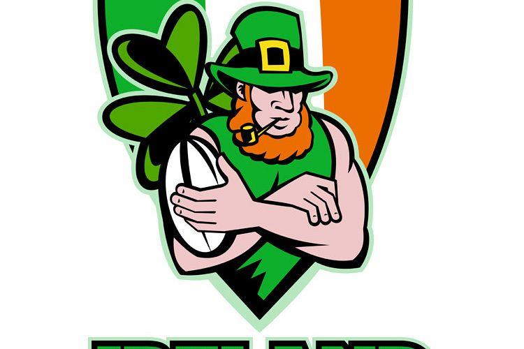 Irish leprechaun rugby player celtic shield Ireland example image 1