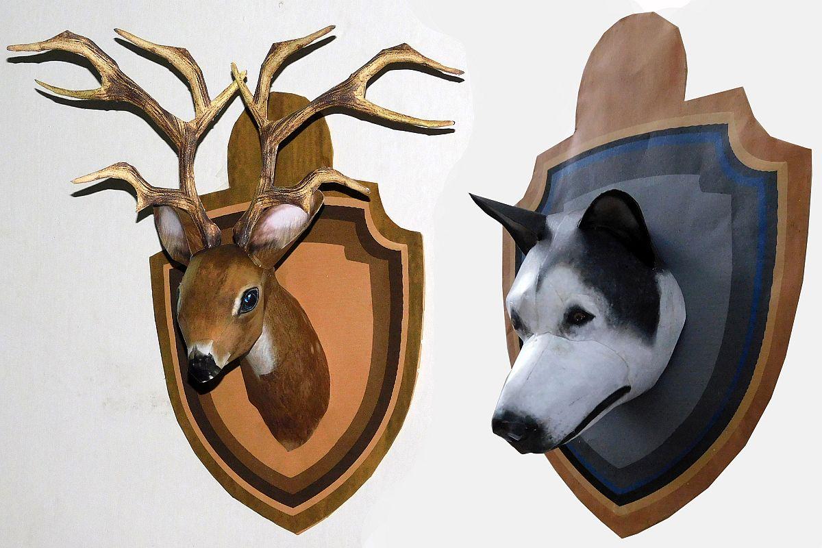 Dog Reindeer Head example image 1