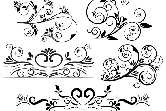 5 Swirl Vectors Svg Dxf Png Jpg Eps vector file Cut Files example image 1