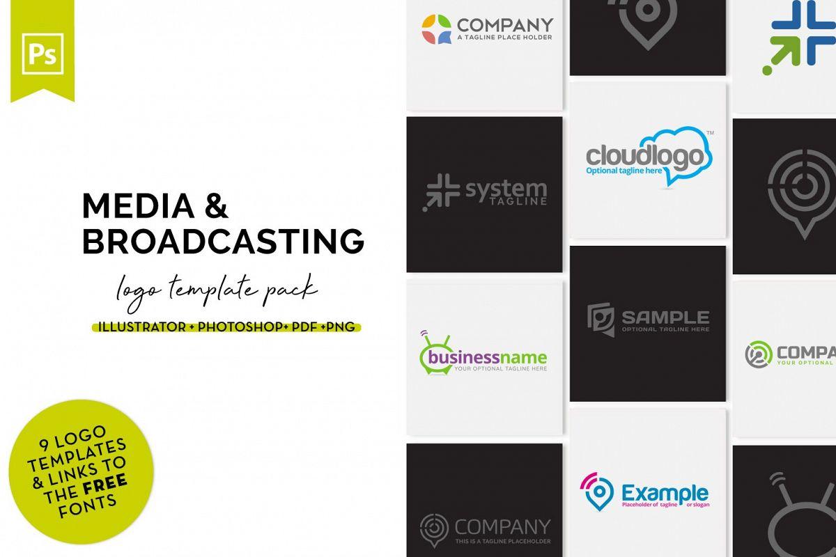Media Logo Design Set example image 1