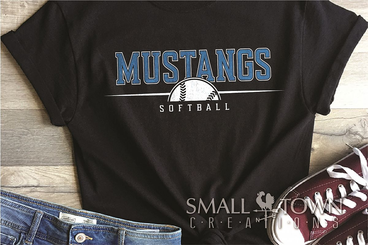 Mustang, Mustang Softball Team, Sport, PRINT, CUT & DESIGN example image 1