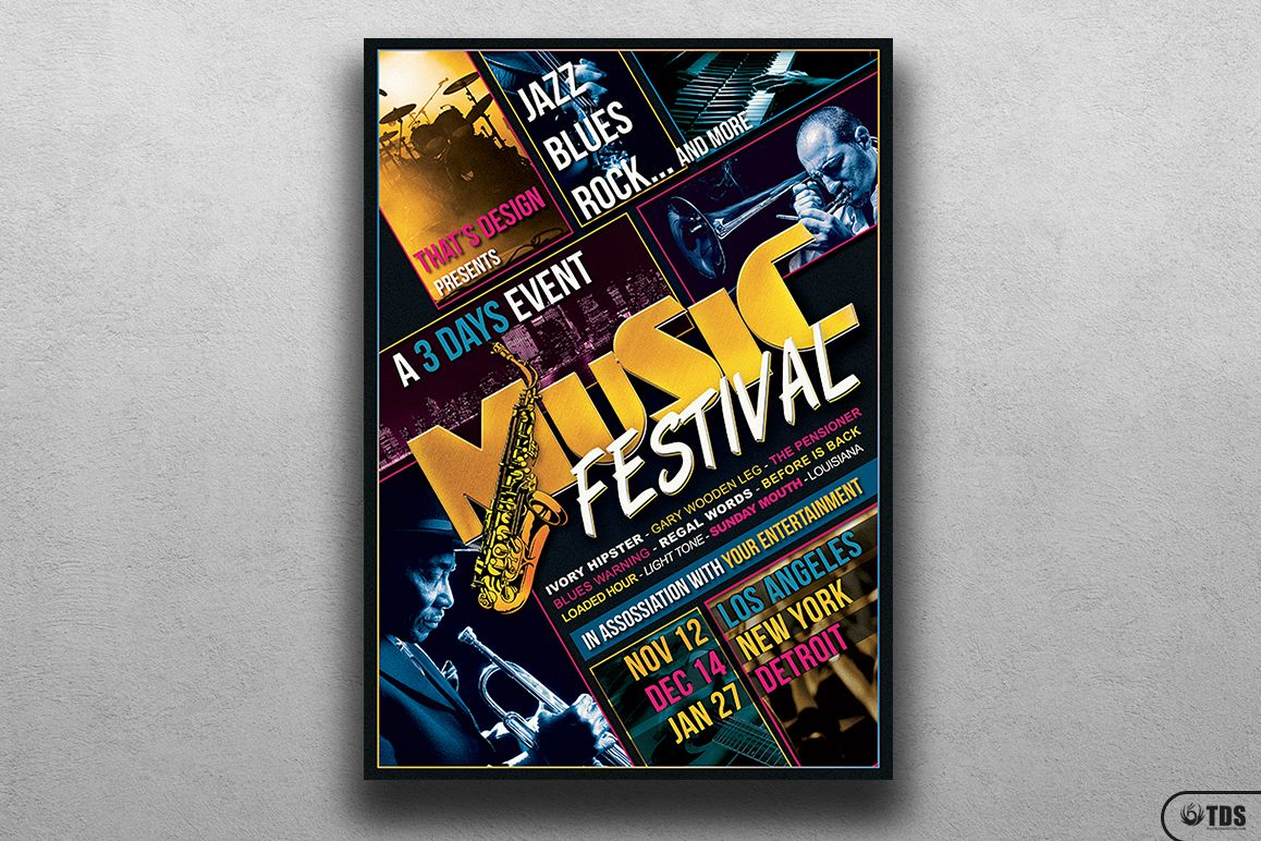Music Festival Flyer Template V3 example image 1