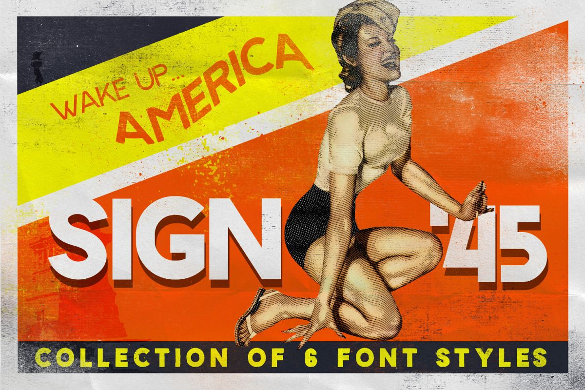 Sign '45 Typeface example image 1
