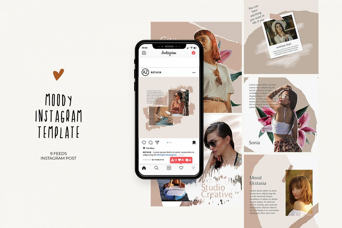 Moody Instagram Templates example image 1