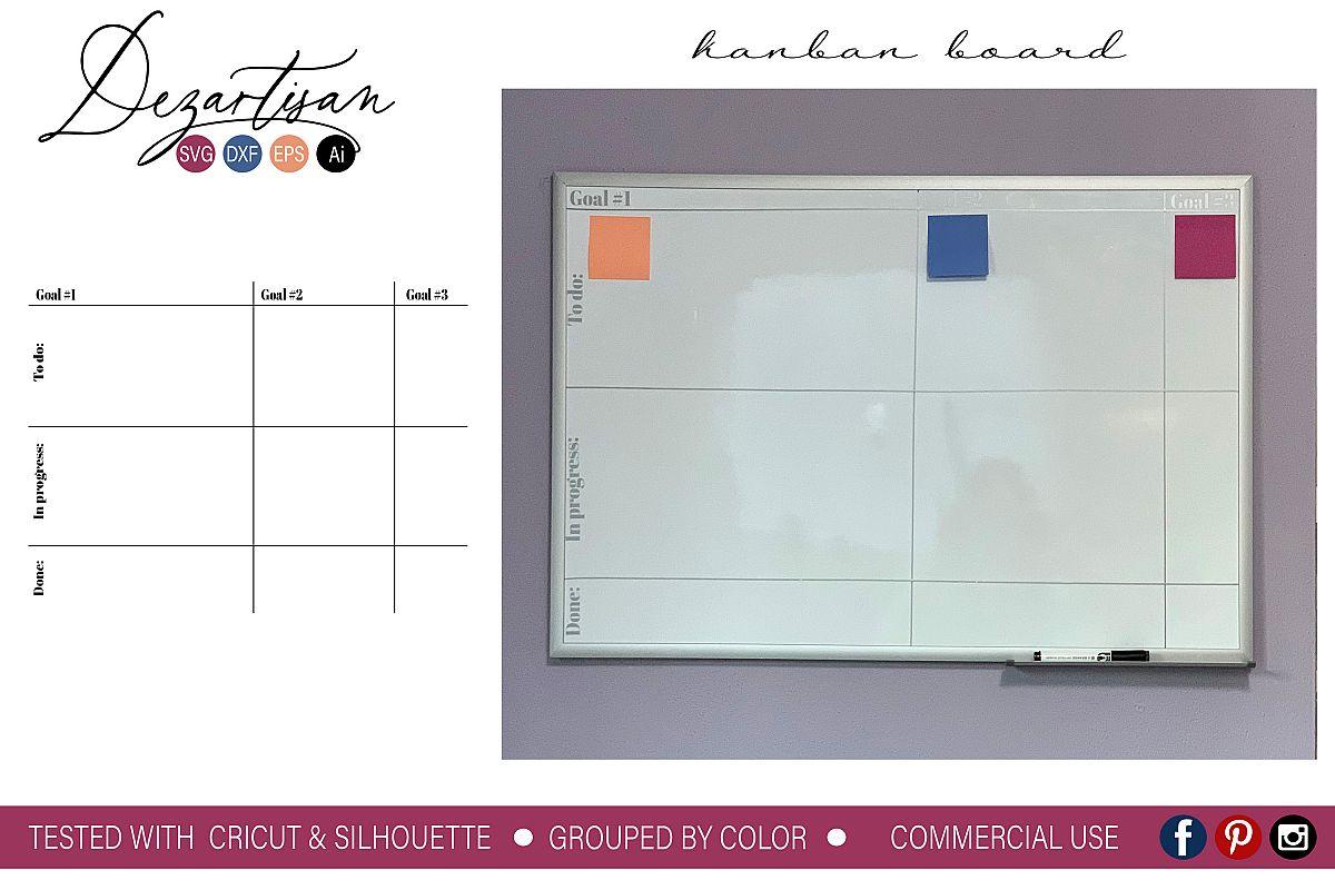 Kanban Board Command Center SVG DXF cut file
