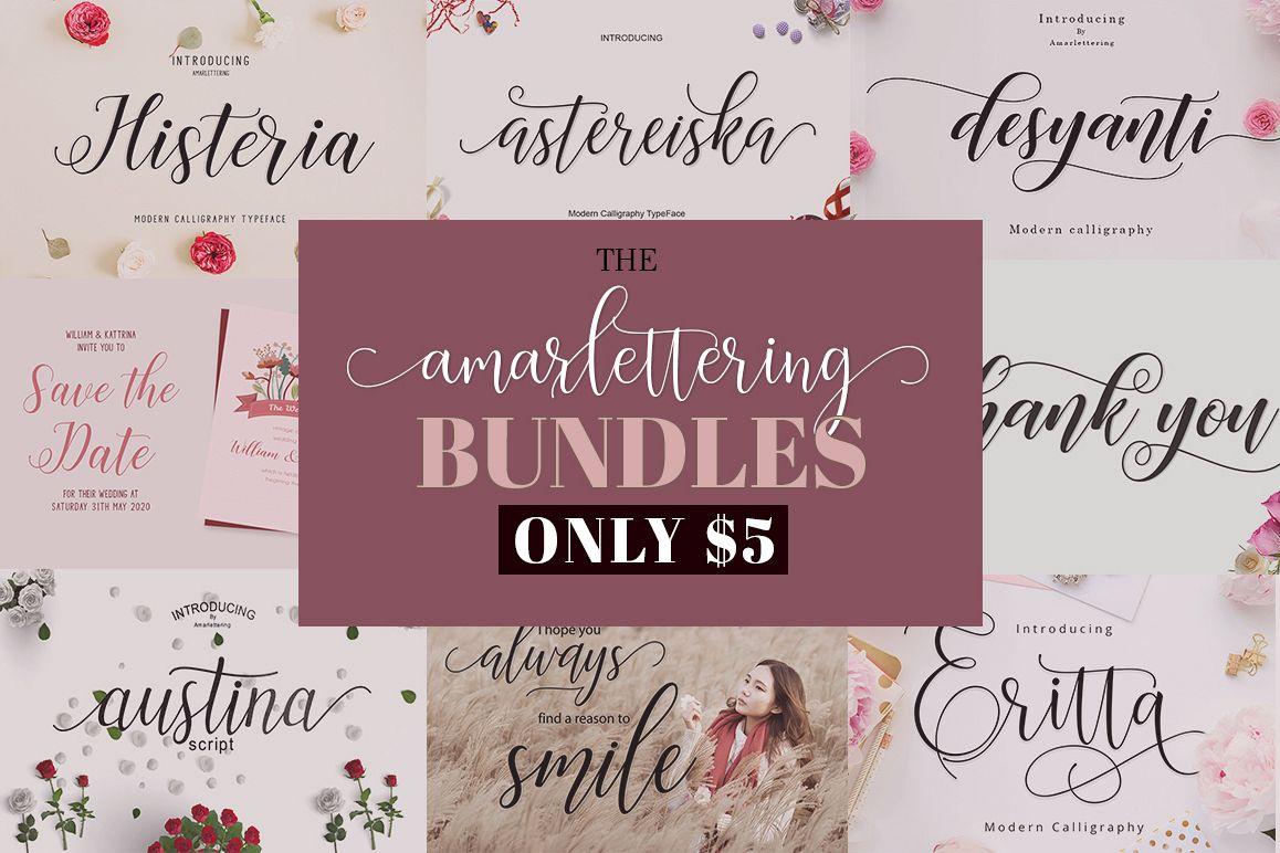 The Amarlettering Bundles Vol. I Only $5 example image 1