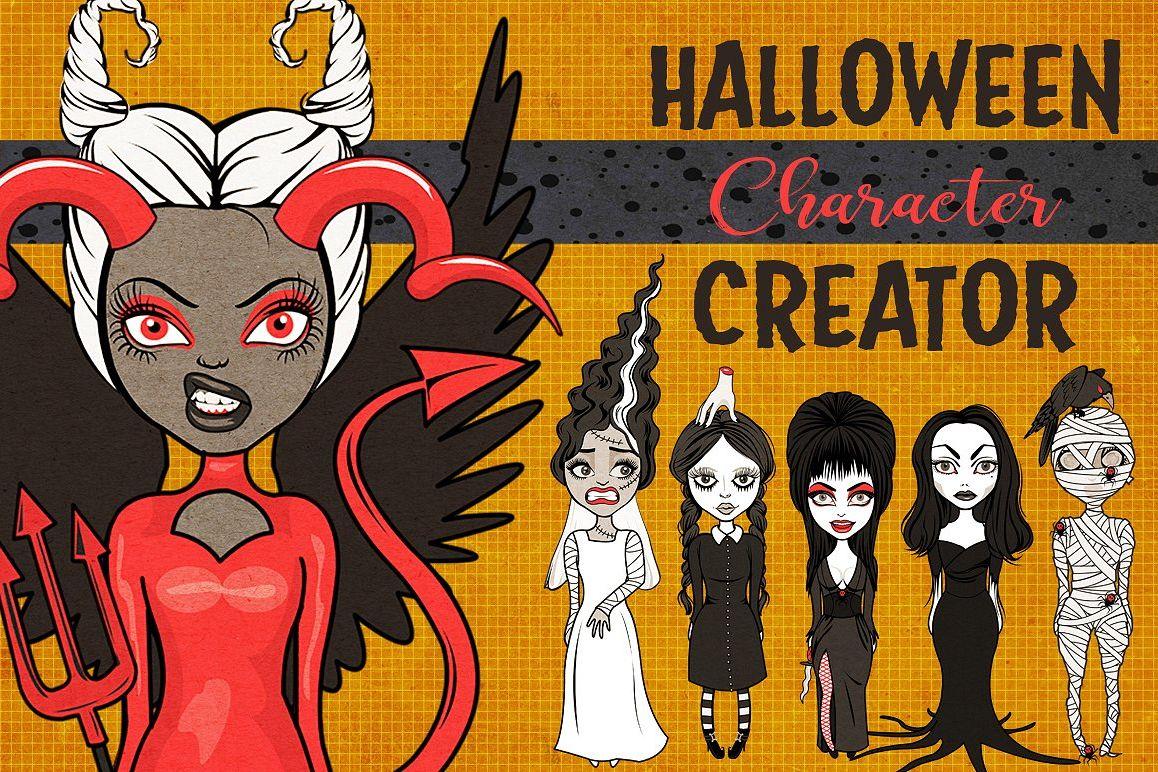 Halloween Girls Character Creator example image 1
