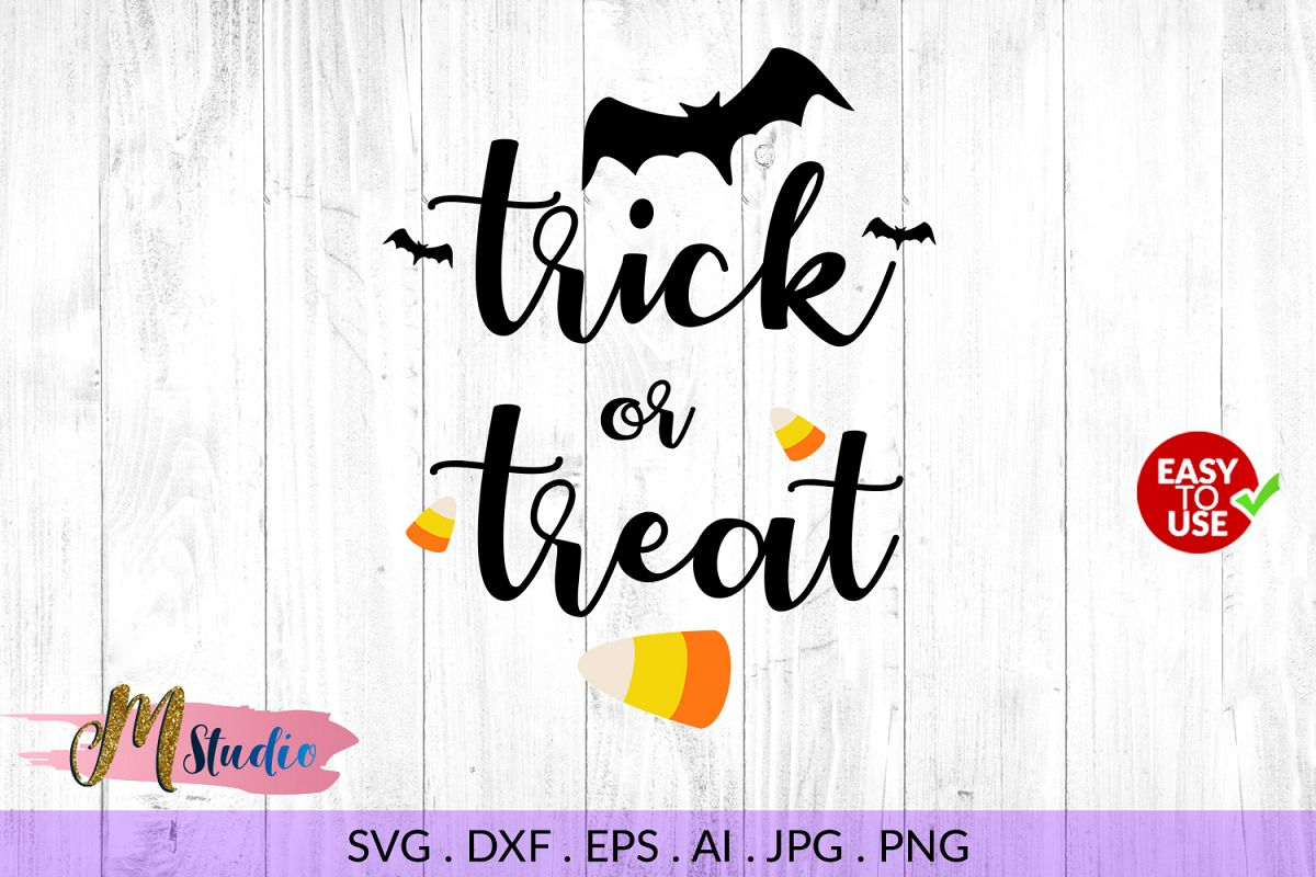 Halloween Trick Or Treat Silhouette.Trick Or Treat Svg Halloween For Silhouette Cameo Or Cricut
