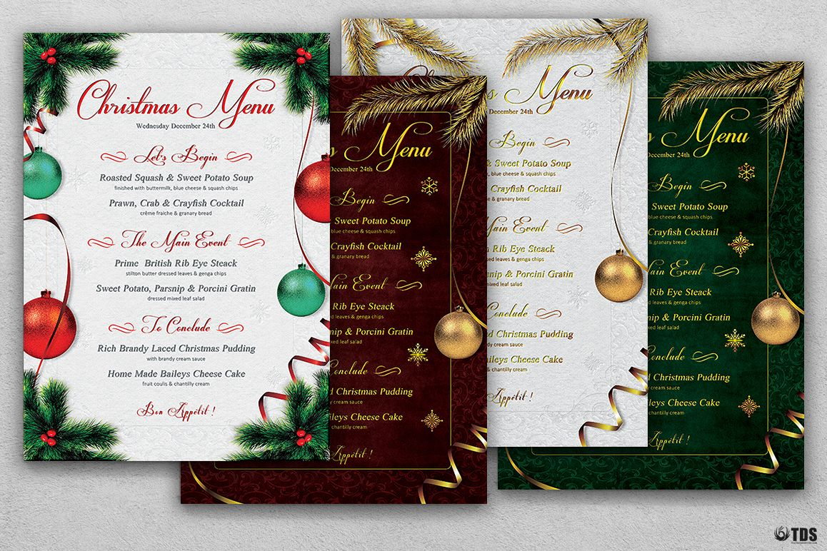 Christmas Menu Template V1