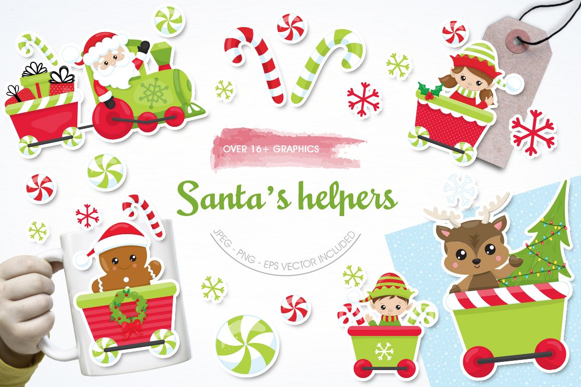 Santa's Helper graphic and illustrations example image 1