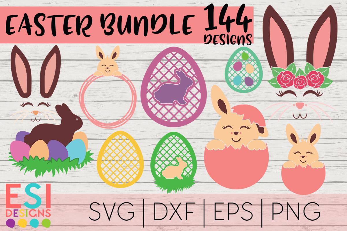 Easter Mega Bundle| Easter Bunny | SVG DXF EPS PNG example image 1