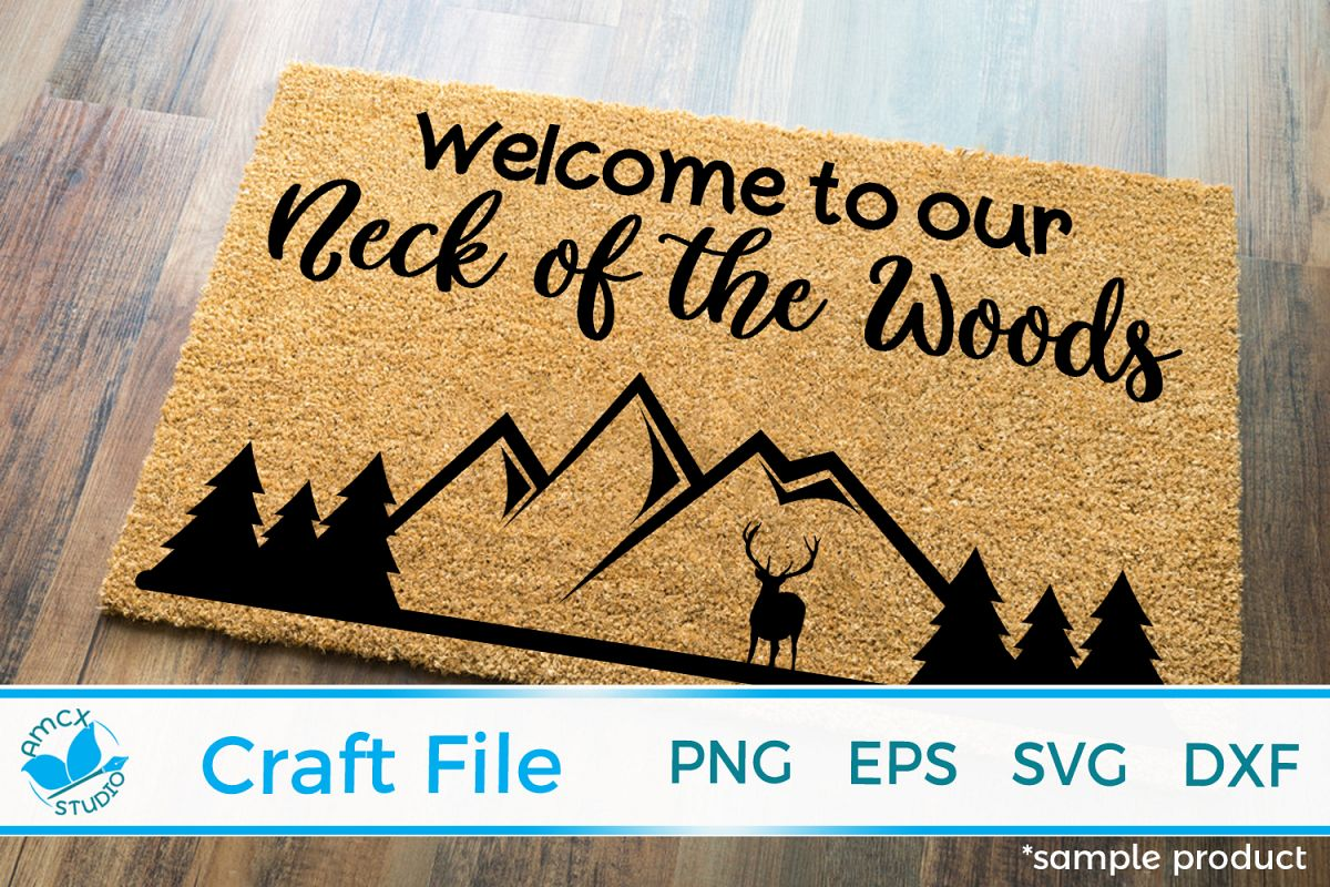 Welcome To Our Woods Front Doormat SVG example image 1