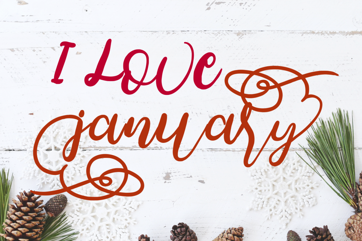 I love January Bounce Script Calligraphy example image 1