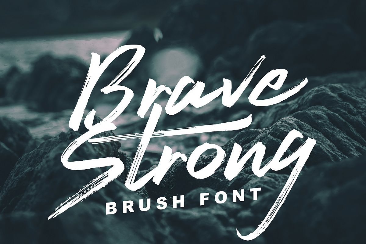 Brave Strong Font example image 1