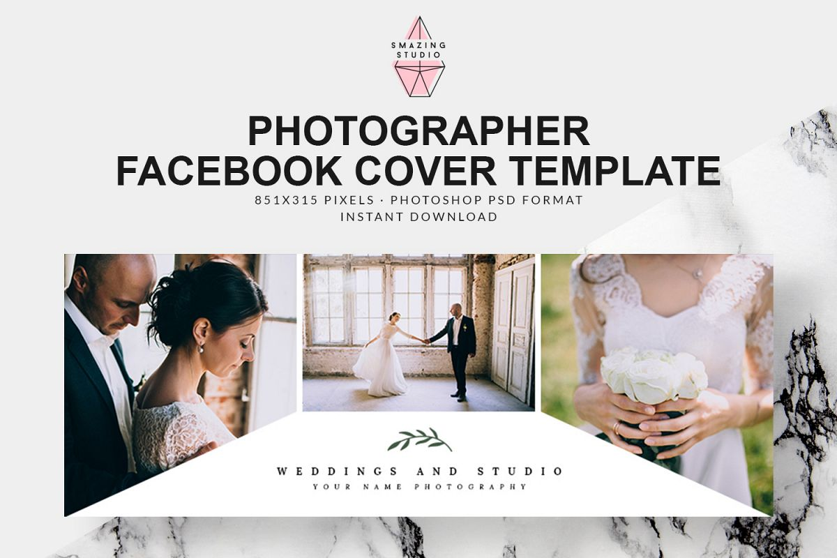 Photographer Facebook Cover Template - FBC005 example image 1