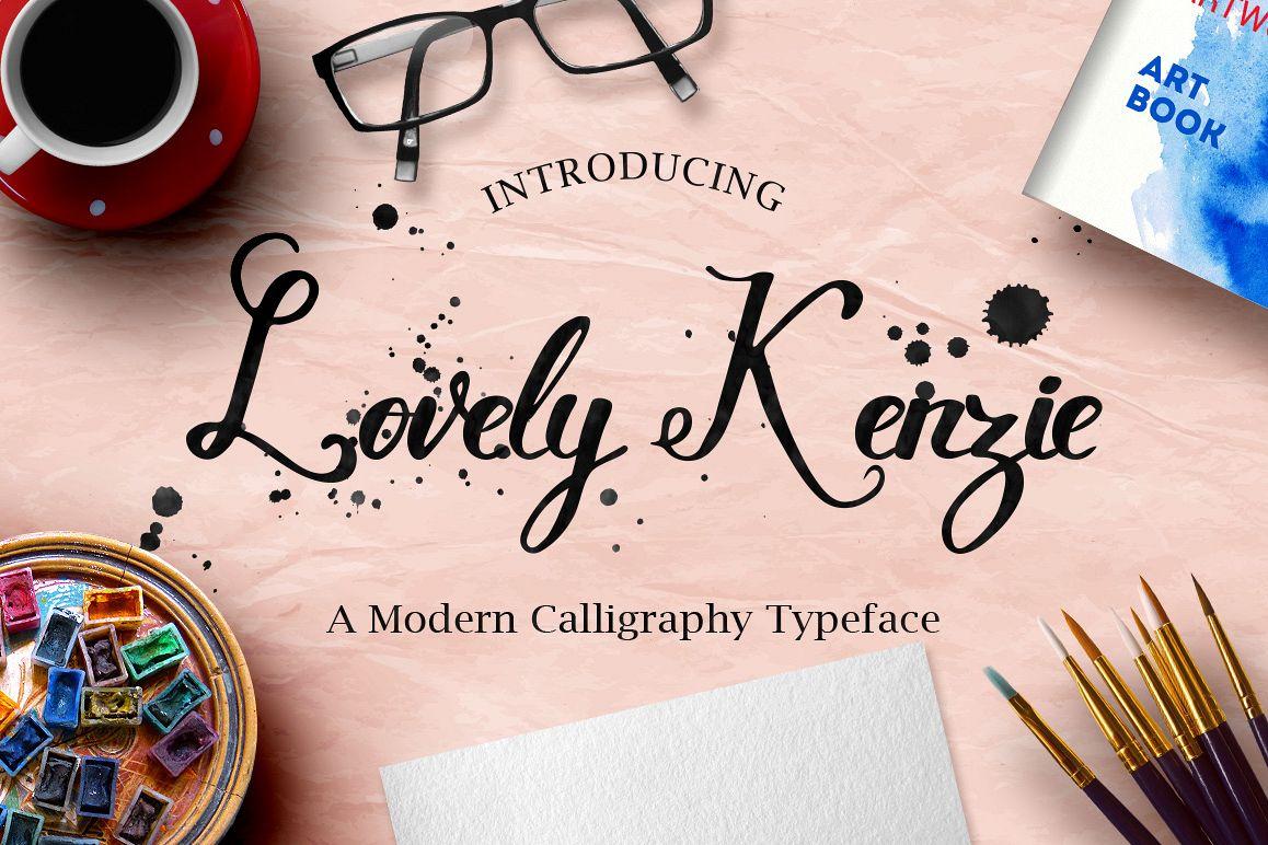 Lovely Kenzie Typeface example image 1