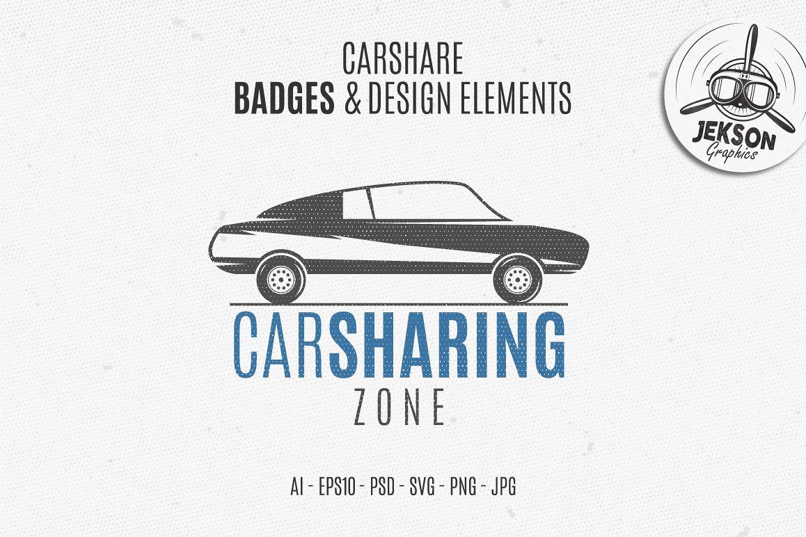 Car Sharing Badges & Elements example image 1
