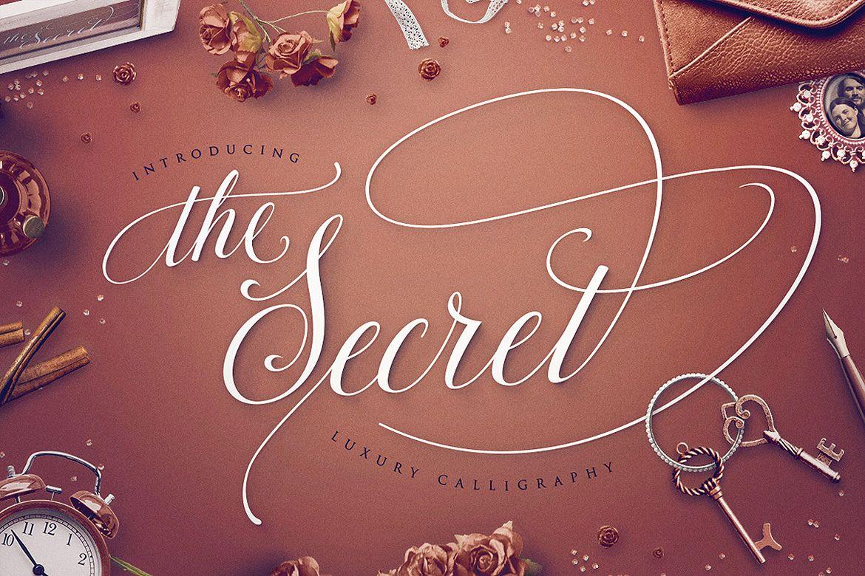 TheSecret Luxury Calligraphy Script example image 1