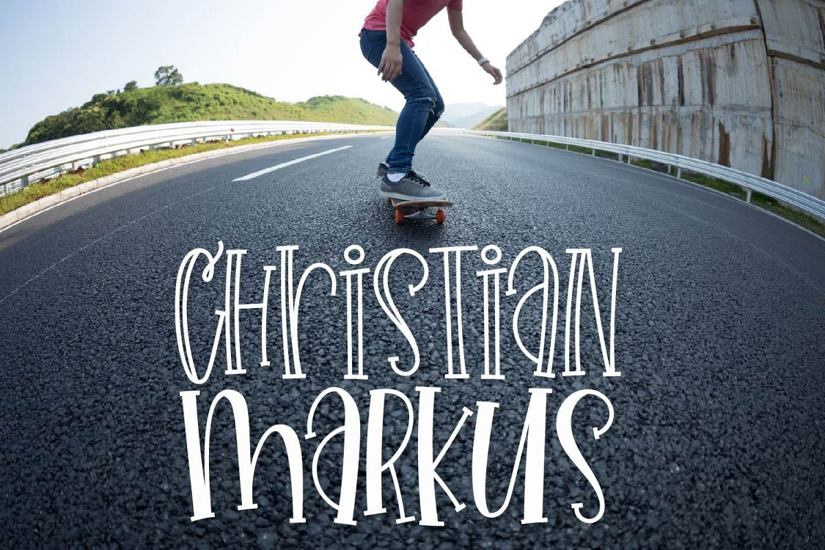 Christian Markus - A Tall Skinny Font Duo example image 1