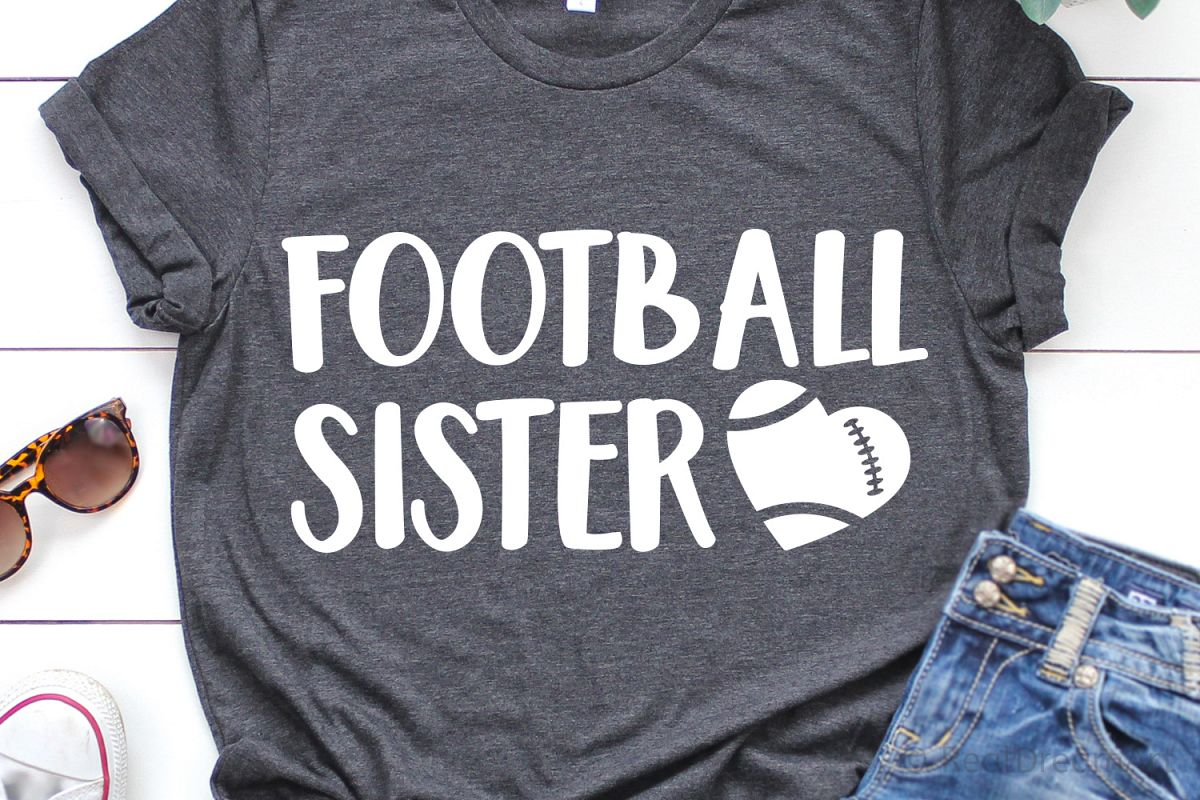 Football Sister SVG, DXF, PNG, EPS example image 1