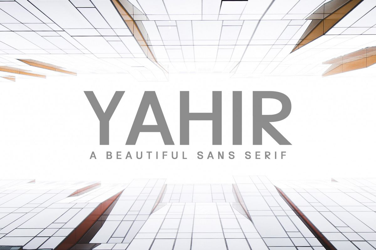 Yahir Sans Serif Font Family example image 1