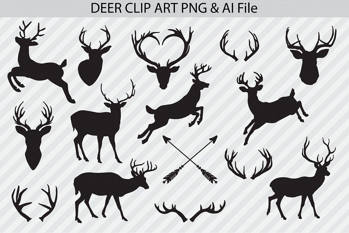 Deer Clip Art & Vectors example image 1