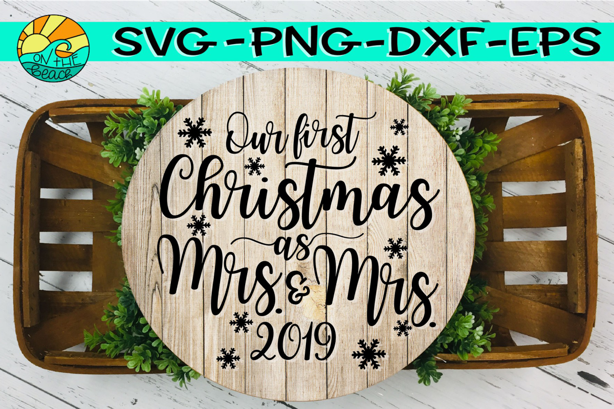 MRS & MRS - First Christmas 2019 - SVG PNG EPS DXF example image 1