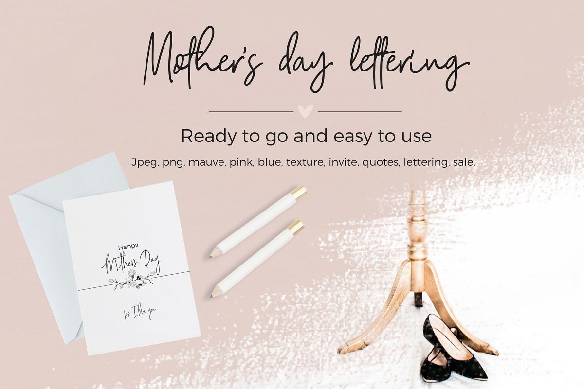 Mother's Day Lettering example image
