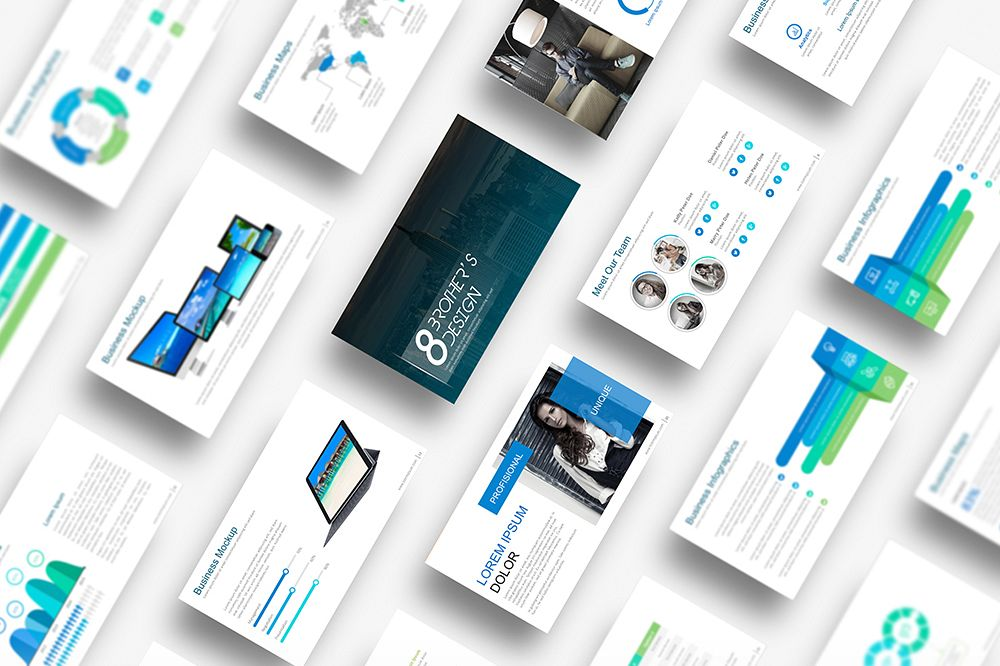 EB Powerpoint Template example image 1