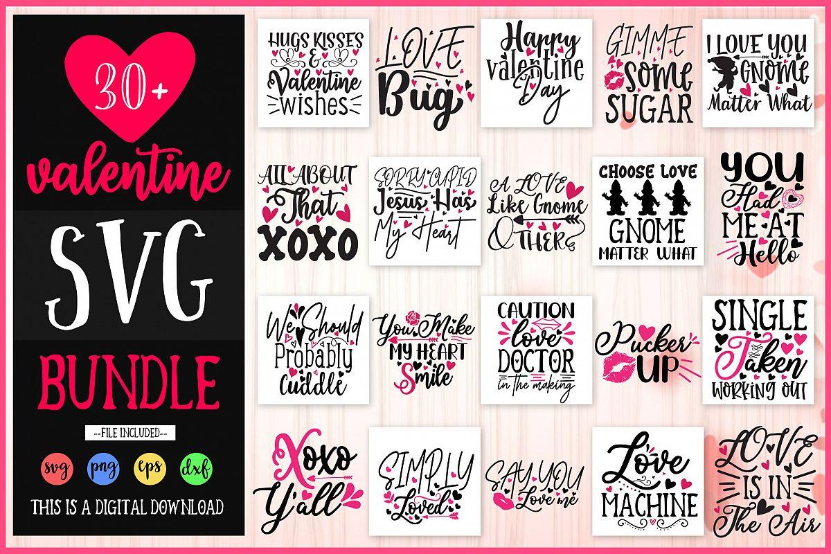Valentine SVG Design Bundle Vol 1 example image 1