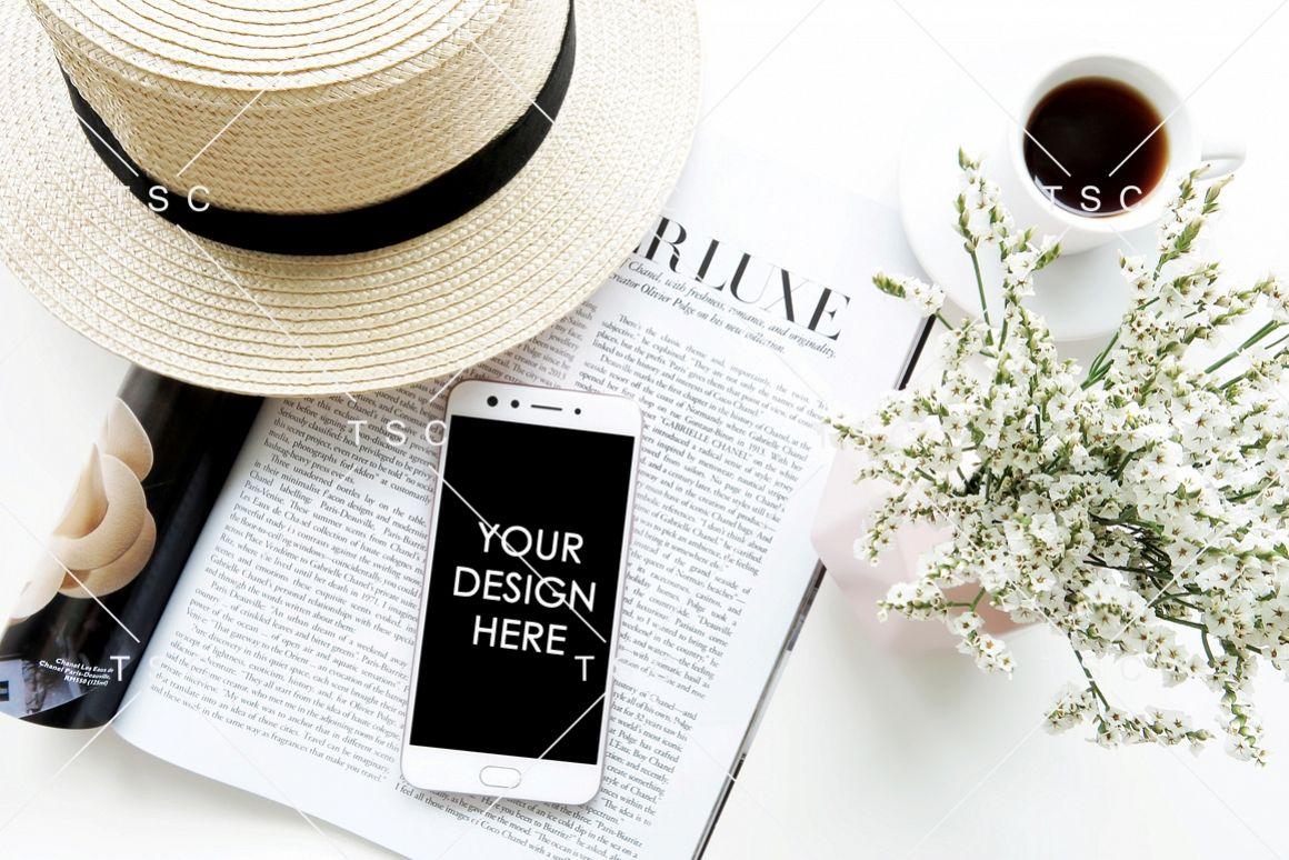 Phone Mockup / Lifestyle Stock Photo example image 1