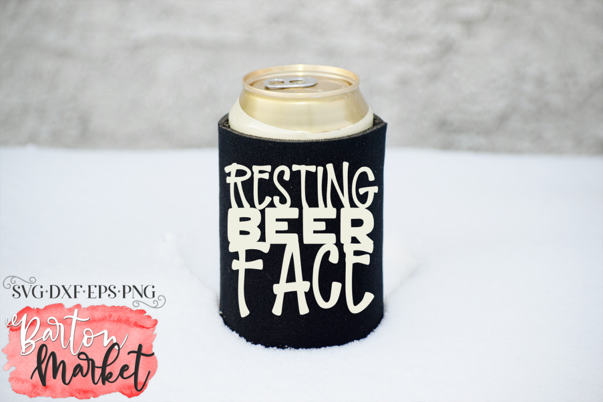 Resting Beer Face SVG DXF EPS PNG example image 1