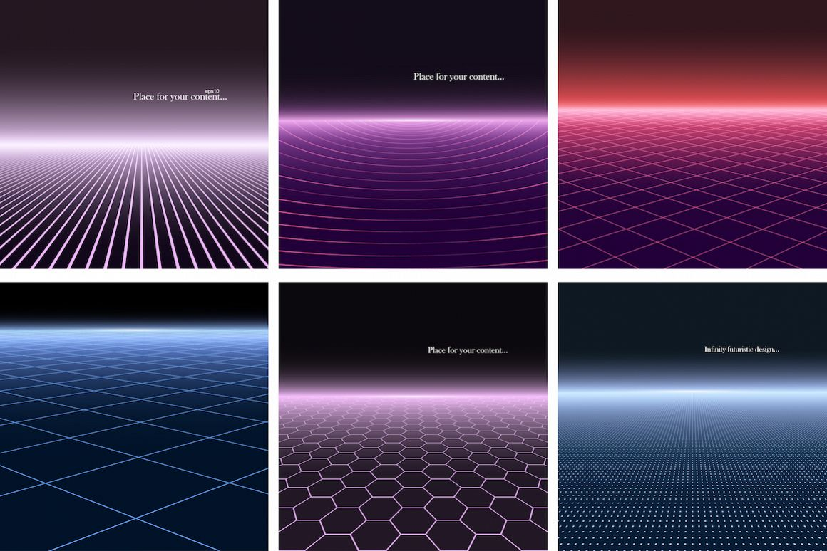 Bright futuristic glowing background example image 1