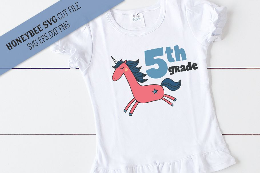 5th Grade Unicorn SVG Cut File example image 1