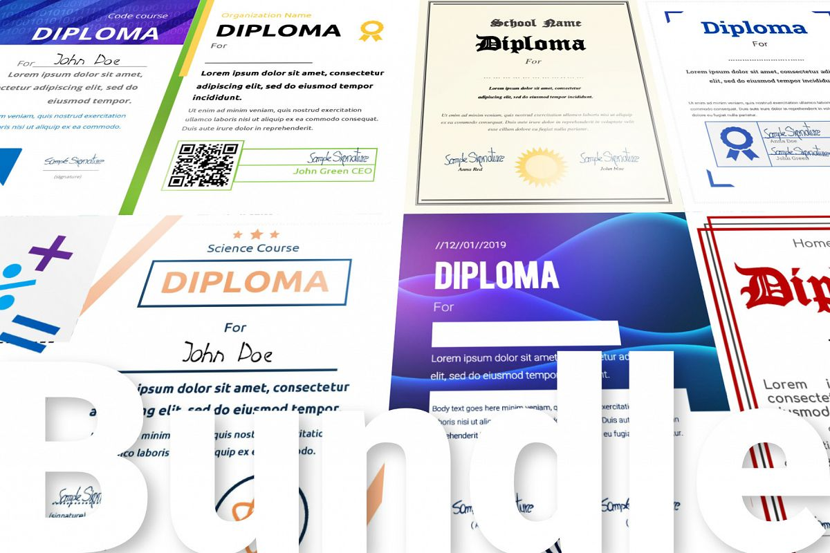 10 Diploma Templates .doc Bundle Pack 50 off example image 1