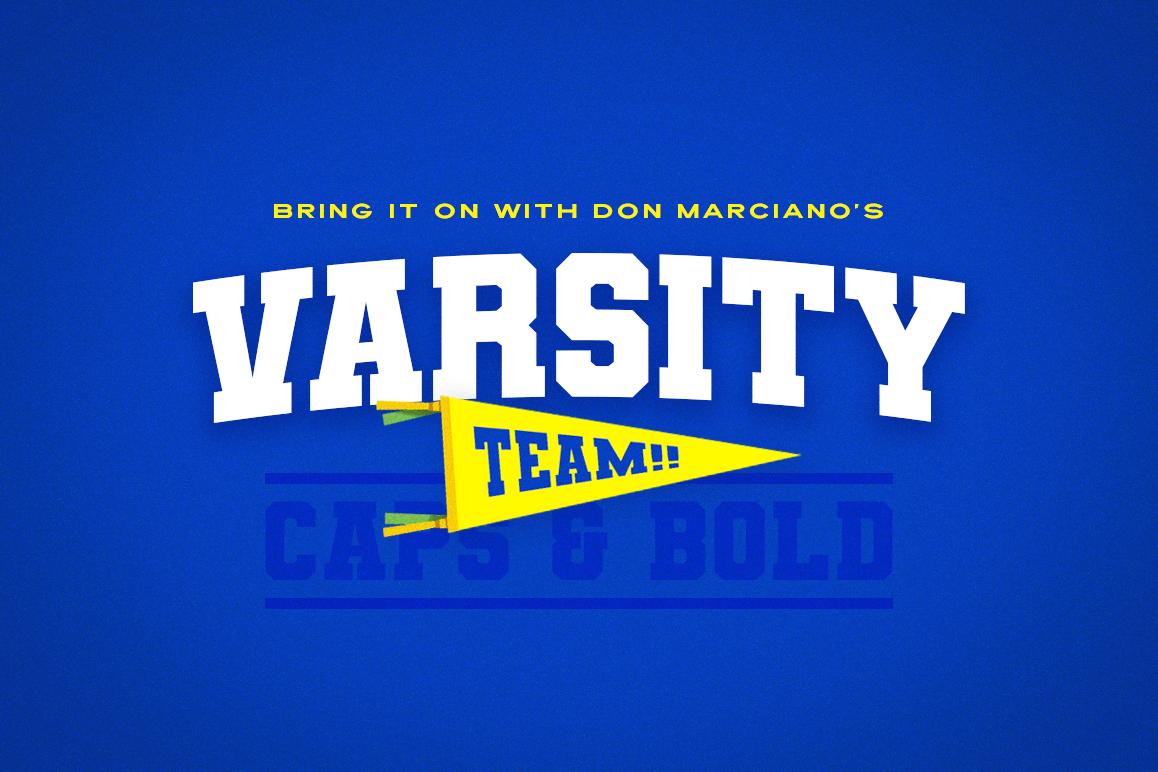 Varsity Team Sports Font example image 1