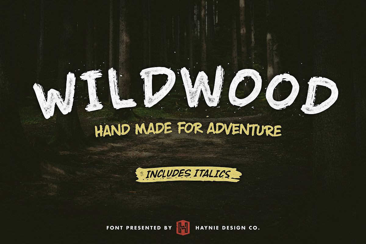 Wildwood Dry Brush Font example image 1