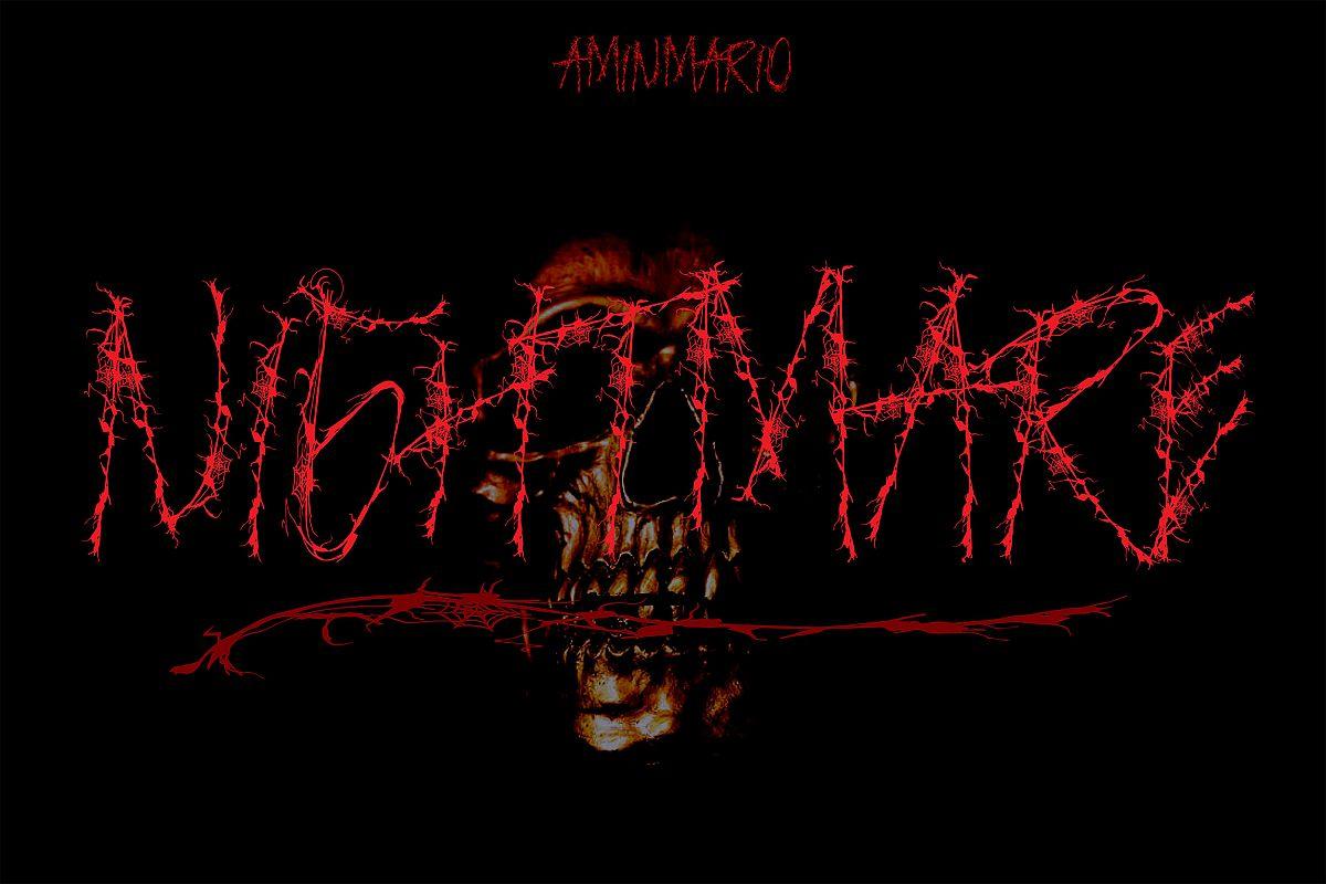 NIGHTMARE | HORROR & HELLOWEEN Font example image 1