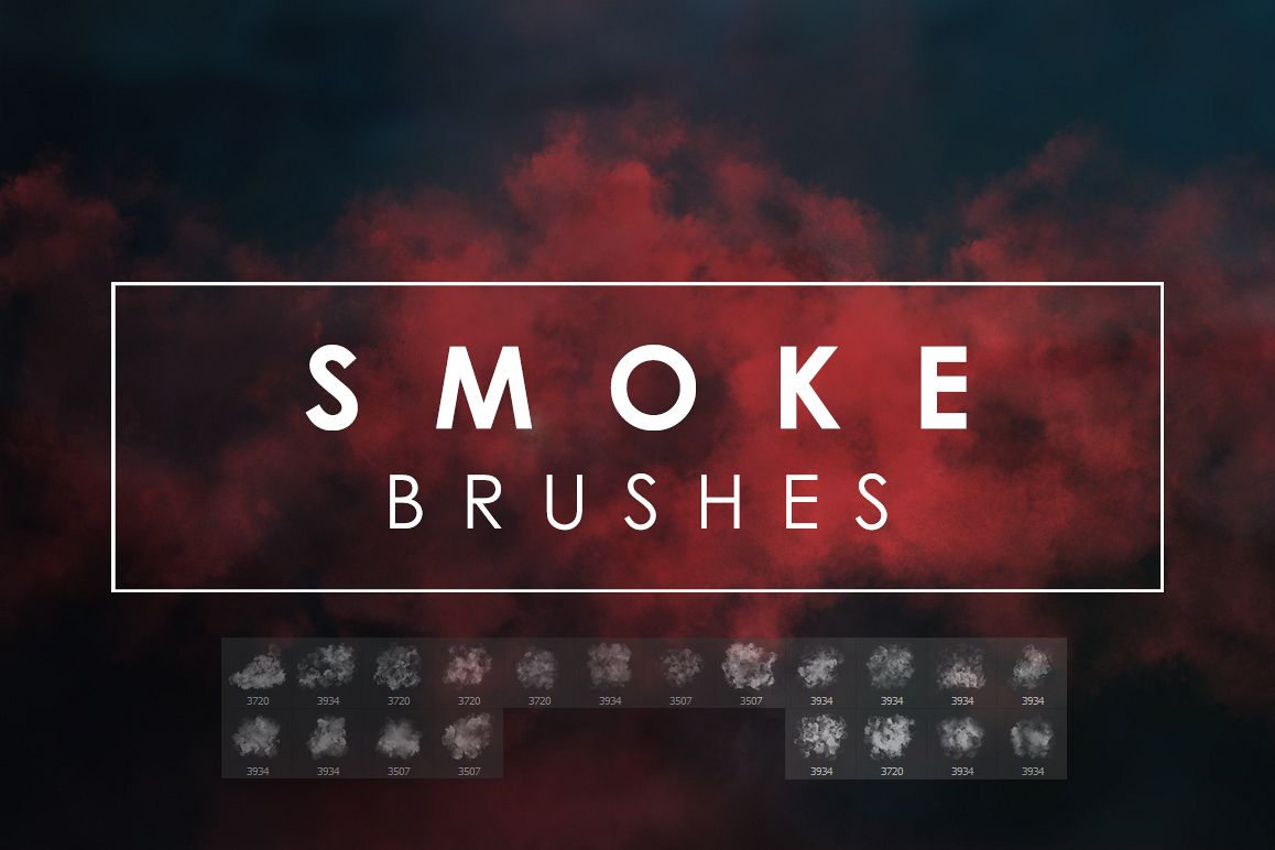 Smoke Photoshop Brushes example image 1