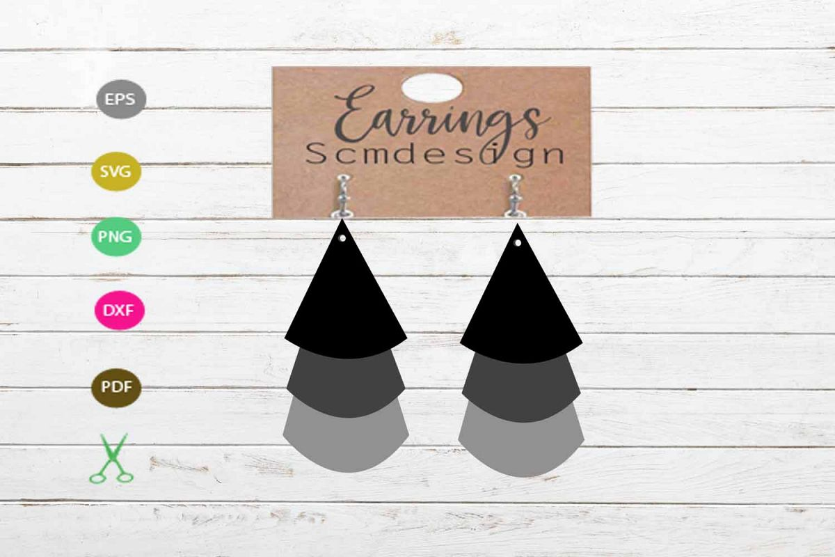 Earrings Svg Earrings Template Earrings Cut File Earrings