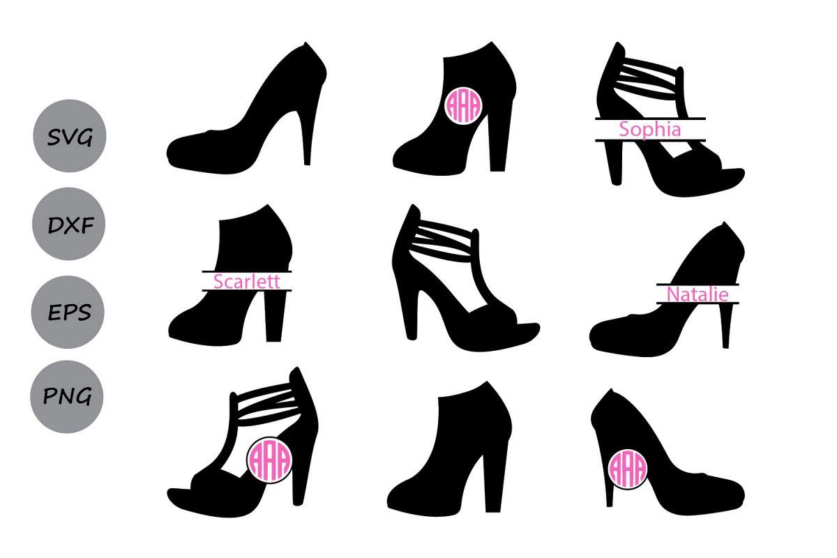 ab41c1af0832c High Heel Svg, High heel monogram Svg, High heels, Shoes Svg, High Heel  Silhouette, High Heel Clipart, Cricut Files, svg, dxf, eps, png.