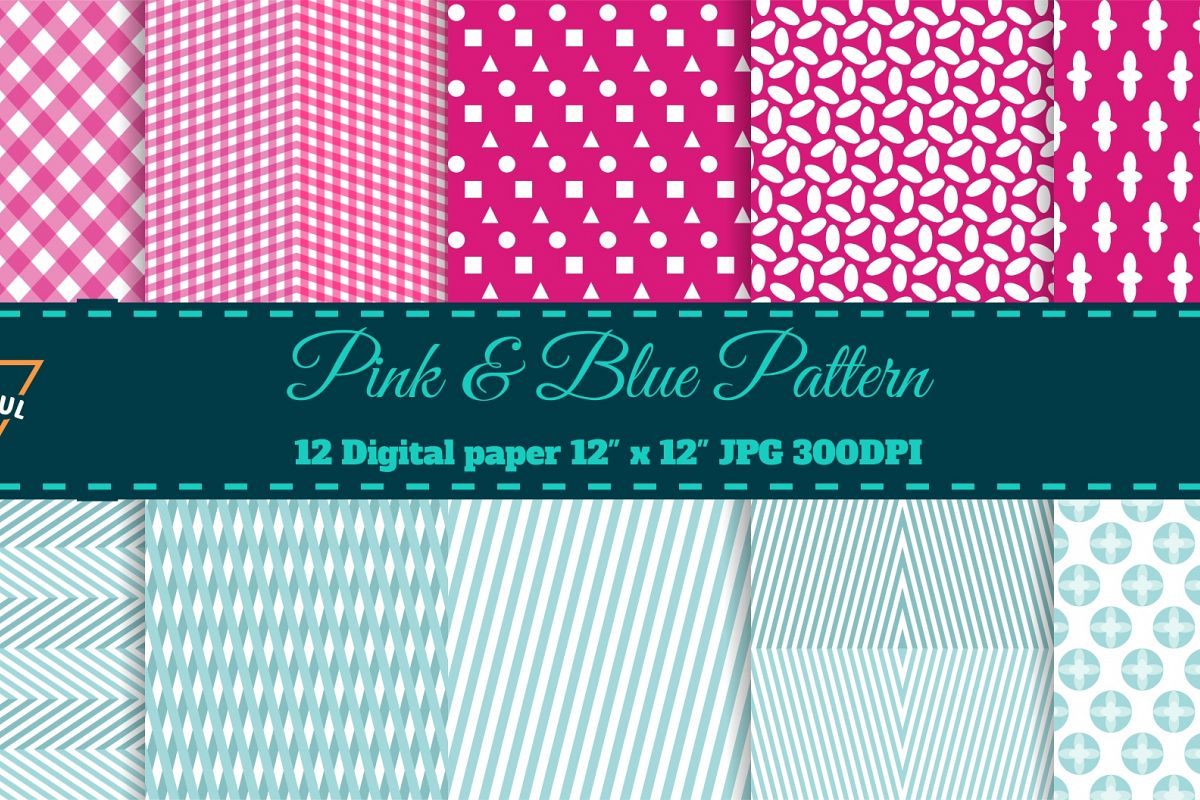Pink and Blue example image 1